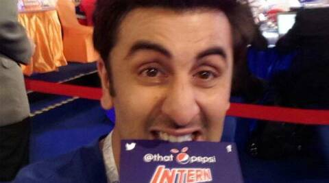 "Ranbir Kapoor said, ""I am heartbroken that my stint as the awesome @ThatPepsiIntern has come to an end."""