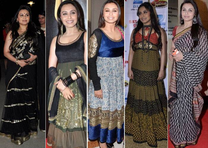 It's no secret that Bengali Beauty Rani Mukerji is a hardcore loyalist of designer Sabyasachi. The actress, who recently tied the knot to filmmaker Aditya Chopra on April 21, donned an elegant lehenga by the designer. Past events have also seen Rani showcasing stunning creations by Sabyasachi –salwar suits, anarkalis and saris. Take a look!