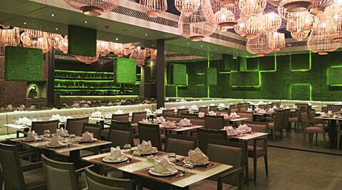 The interiors at O:h Cha have been influenced by the paddy fields of Thailand.