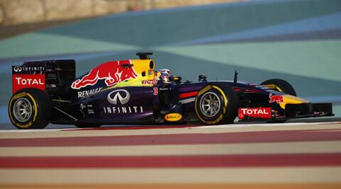 Red Bull Racing Formula One driver Daniel Ricciardo of Australia driving at the Bahrain Grand Prix. (Reuters)