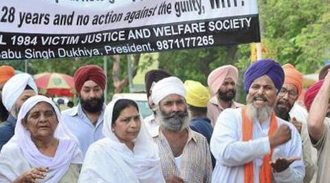 Relatives of victims of the 1984 anti-Sikh riots. (PTI File photo)