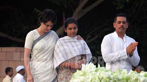 I will not remain quite and I am waiting for them to say more: Priyanka Gandhi on Robert Vadra video. (Express Photo)