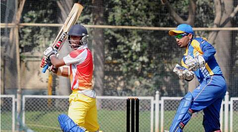 Rohan Prem of Kerala plays a shot during the match against Bengal. (PTI)
