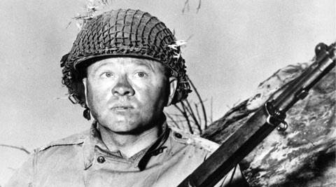 """Actor Mickey Rooney is shown in this file photo as G.I. Dooley in the 1956 Hollywood movie """"The Bold and the Brave.""""  (AP)"""
