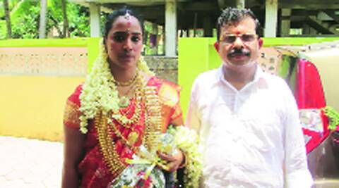 K C Kannan with wife Jeejabai. Express