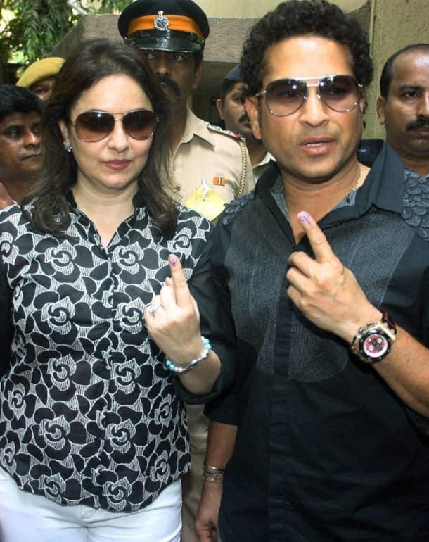 Sachin Tendulkar celebrates 41st birthday by casting vote