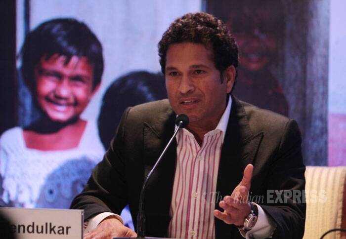 Sachin Tendulkar joined the Total Sanitation Campaign as the United Nations Children's Emergency Fund (UNICEF) Regional Ambassador to the offices in India, Pakistan, Nepal, Bangladesh and Sri Lanka. (IE Photo: Amit Chakravarty)