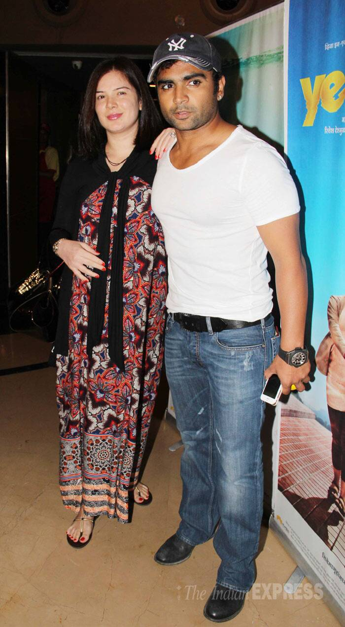 New parents Sachiin Joshi and wife Urvashi were also seen at the screening. (Photo: Varinder Chawla)