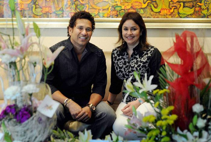 The Bharat Ratna awardee, who is also a Rajya Sabha MP, then celebrated his birthday at his residence in Mumbai. This is Sachin's first birthday after he quit all forms of cricket last year. (PTI)