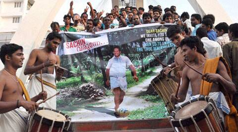 Kochi celebrates Sunday over Sachin Tendulkar winning Kochi franchise (PTI)