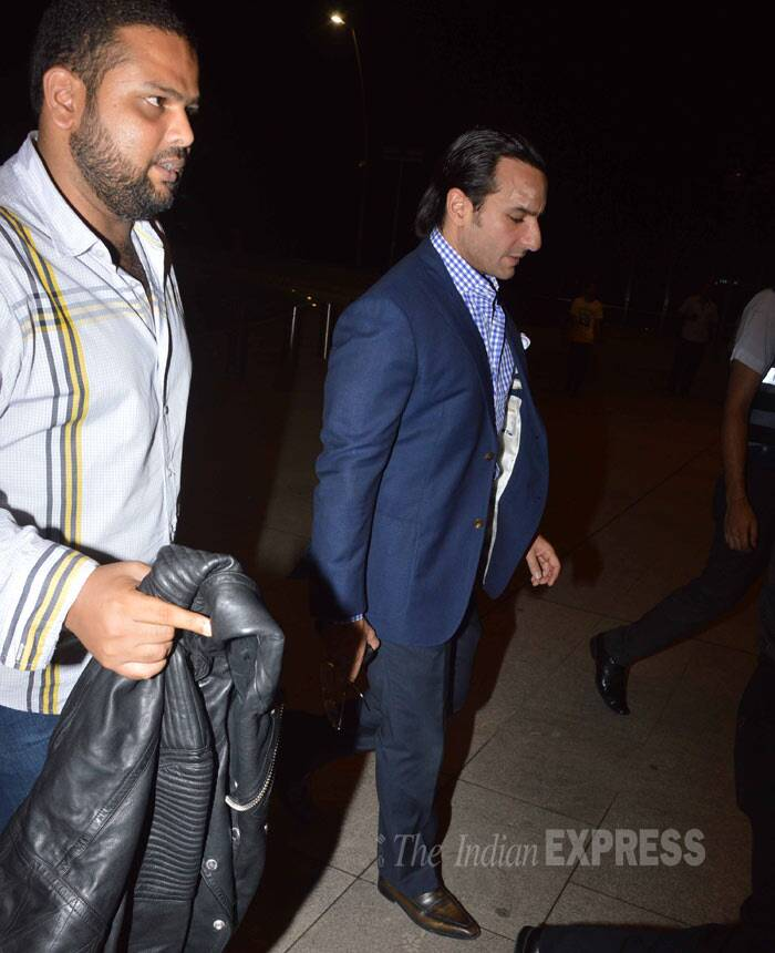 However, the 'Humshakals' actor was spotted sans his wife Kareena Kapoor Khan. (Photo: Varinder Chawla)