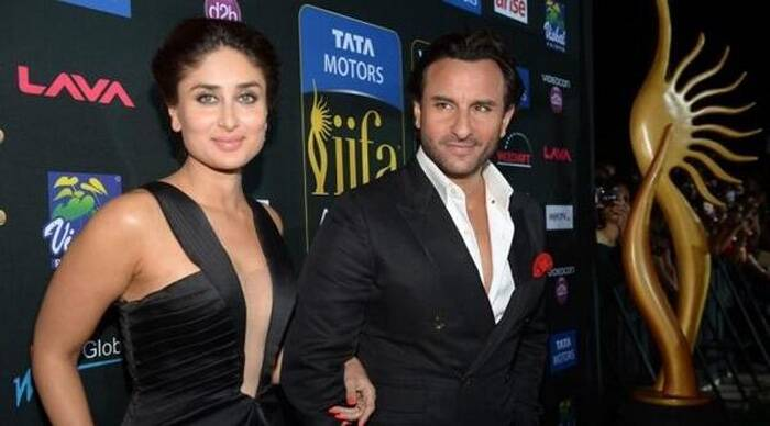 Kareena Kapoor Khan came hand-in-hand with husband Saif Ali Khan. She looked sultry in a black Armani gown with an illusion panel. Glossy lips, smoky eyes finished off her look. (Photo: Twitter)