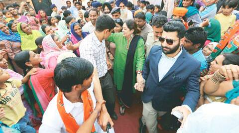 Turning Heads: Actor Sahdev Salaria with Kirron Kher in Chandigarh.