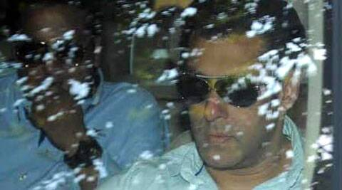 Bollywood superstar Salman Khan appeared before Mumbai court in 2002 hit-and-run case. (IE Photo)