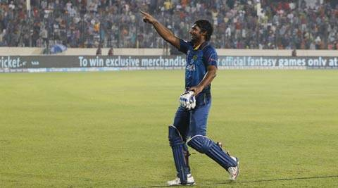 Kumar Sangakkara acknowledges the crowd after winning the ICC World Twenty20 final (AP)