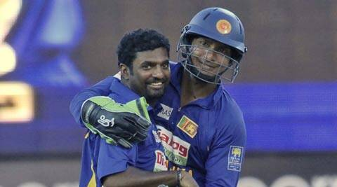 FROM THE ARCHIVES: Muttiah Muralitharan and Sunday night's hero Kumar Sangakkara