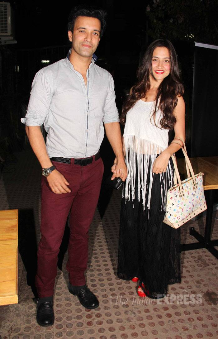 Sanjeeda Sheikh was seen with her real husband Aamir Ali. (Photo: Varinder Chawla)
