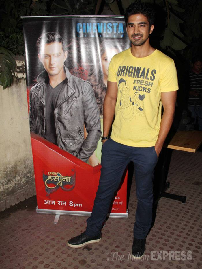 Saqib Saleem was dressed casually for the launch. (Photo: Varinder Chawla)