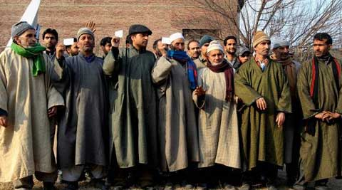 Panchs and sarpanches from Sopore announced their resignations in Srinagar following attacks on two panchayat members. (PTI FILE Photo)