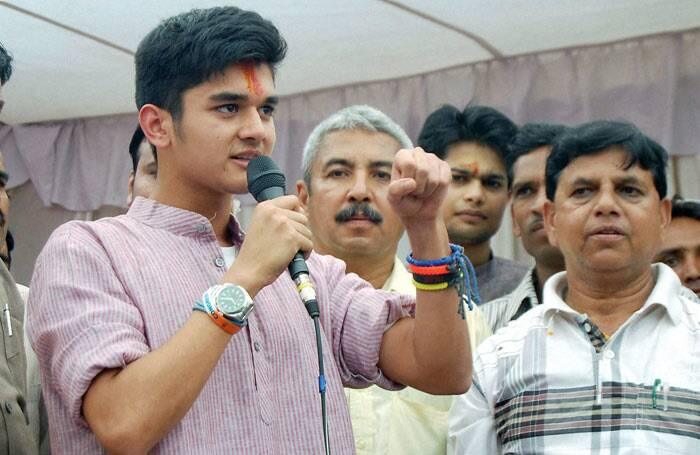 Congress MP and Union Minister of State for Power Jyotiraditya Madhavrao Scindia, who represents the Guna constituency in Madhya Pradesh, has a star campaigner for him in this Lok Sabha elections. And no, it is not any Bollywood star but his young son Aryaman Scindia, who is attracting a lot of attention during the campaigns. (PTI)