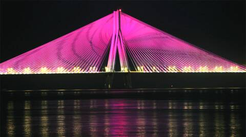 Smaller version of main cable-stayed bridge of Bandra-Worli Sea Link planned (Express Archive)