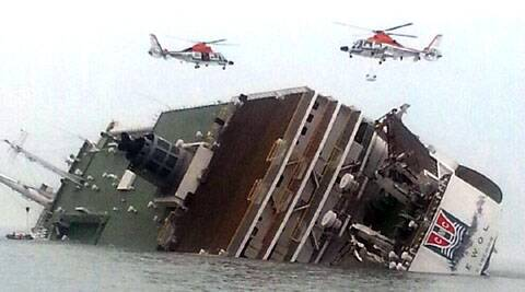 Two dead as ferry with over 470 passengers sinks off South Korea