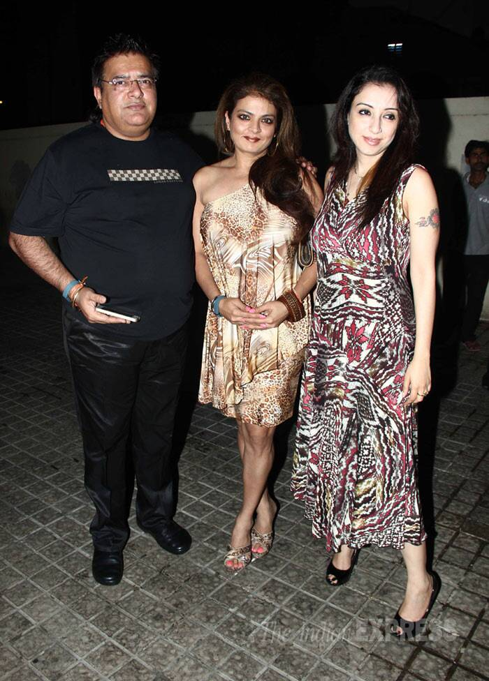 Former actress Sheeba was seen with her husband and a friend. (Photo: Varinder Chawla)