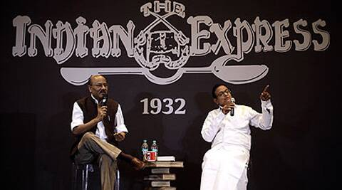 We are still in government and we actors are still active in public life: P. Chidambaram. Express Photo: Praveen Khanna