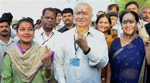 Today's polling would decide the fate of 358 candidates, including Union Minister Sushilkumar Shinde. (PTI Photo)
