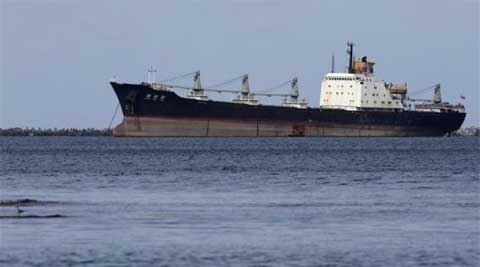 The boat, with a cargo of iron ore and copper powder, was sailing from North Korea to China on a sea route regularly used by North Korean cargo ships. (File photo: Reuters)