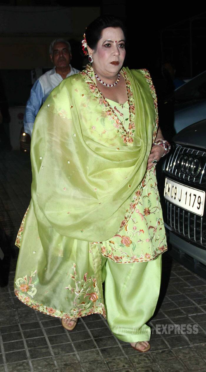 Ekta Kapoor's mother and Jeetendra's wife Shobha Kapoor makes an entrance. (Photo: Varinder Chawla)