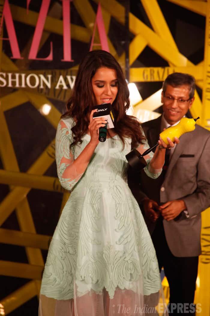 Shraddha Kapoor won the Grazia Face of the Year. (Photo: Varinder Chawla)