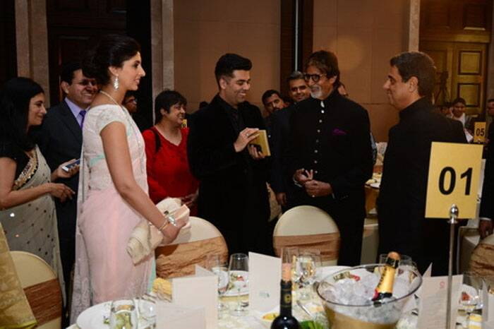Amitabh Bachchan, Shweta Nanda and her childhood friend Karan Johar catch up. (Photo: Amitabh Bachchan Blog)