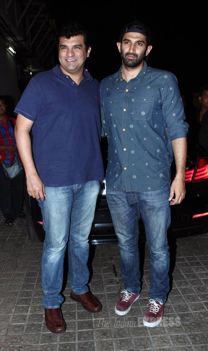 Brothers in arms! UTV's Siddharth Roy Kapur and Aditya get together for the cameras. (Photo: Varinder Chawla)