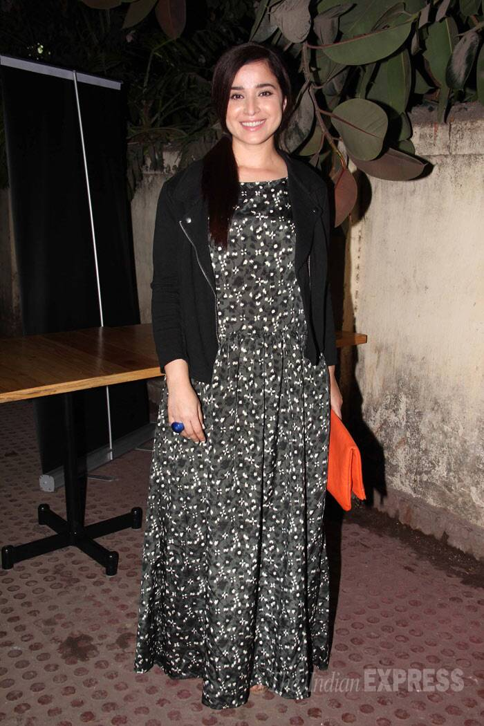 Simone Singh was pretty in a black printed maxi. (Photo: Varinder Chawla)
