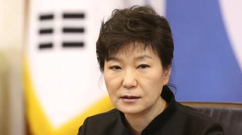 South Korean President Park Geun-hye apologises over the sunken ferry Sewol during a cabinet meeting at the presidential Blue House in Seoul. (AP)