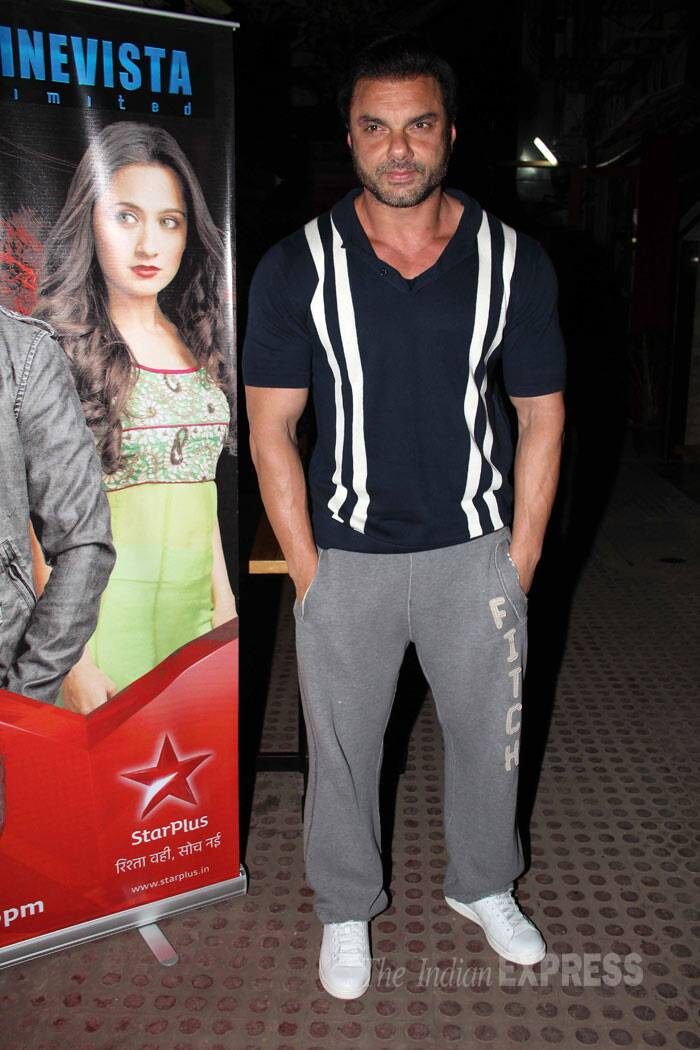 Salman Khan's director brother Sohail Khan was seen at the serial launch of his close friend and CCL team member Vatsal Seth, who is making a comeback on the small screen with 'Ek Hasina Thi'. (Photo: Varinder Chawla)