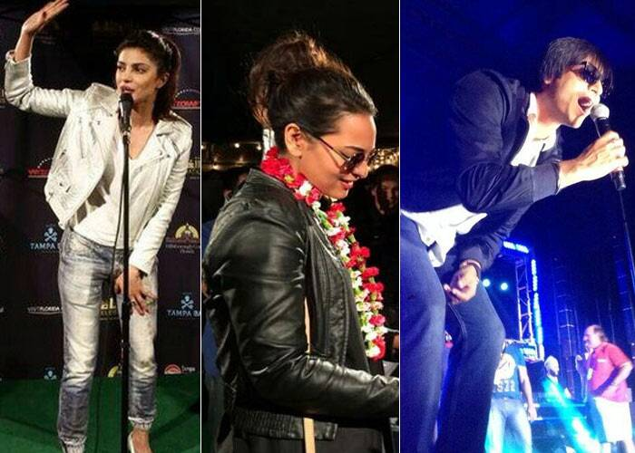 The 15th edition of the International Indian Film Academy (IIFA 2014) weekend and awards kicked off on Wednesday (April 23) at Tampa Bay, Florida, USA. Celebrities including Priyanka Chopra, Sonkashi Sinha and Saif Ali Khan, who are in America for the grand event have already started going about their commitments.
