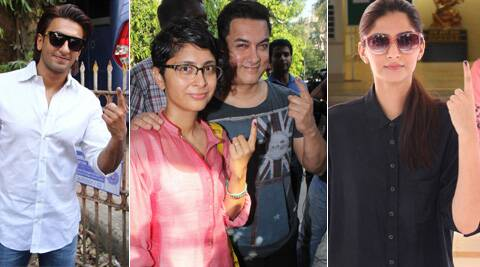 Aamir Khan, Sonam Kapoor, Ranveer Singh turn out to vote, ask fans to get inked