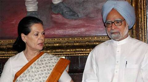 congress president Sonia Gandhi with PM Manmohan Singh. (File photo: PTI)