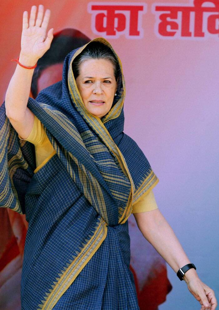 "A day after Narendra Modi accused her of resorting to ""rabid communalism"", Congress president Sonia Gandhi today hit back asking whether someone who ""speaks lies"" was fit for the PM's post. (PTI)"