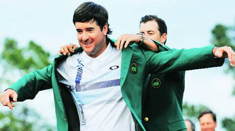 Watson had handed Adam Scott the green jacket last year but the roles were reversed this time around at Augusta. Watson shot a 3-under-69 in the final round to end the tournament 8-under-280 to earn a record prize purse of USD 1.6 million.  REUTERS