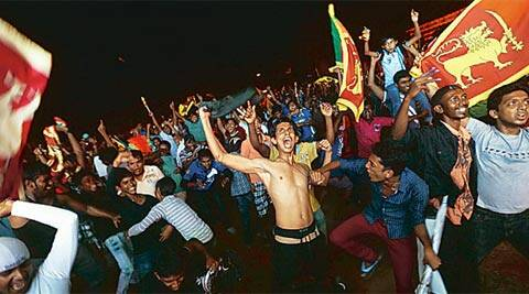 The party began in Colombo on Sunday night. The festivities, however, are all set to carry on well after the victorious team land in the Lankan capital on Tuesday morning (Reuters)