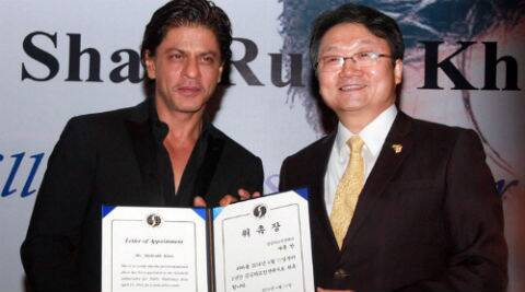 Shah Rukh said he was humbled to receive such an honour from South Korea. (PTI)