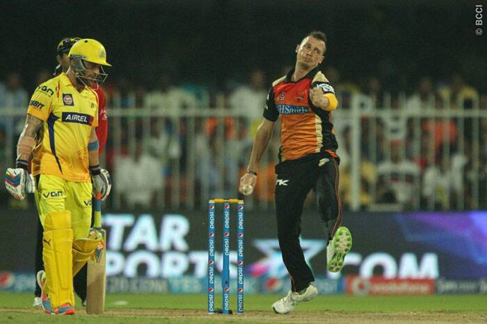 Dale Steyn was trying hard in the middle but he didn't taste success on Sunday and returned without any additions to his wickets tally (Photo: BCCI/IPL)