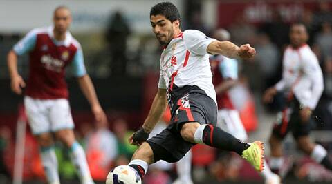Suarez is two goals shy of the joint record hauls of Alan Shearer and Cristiano Ronaldo. (AP)