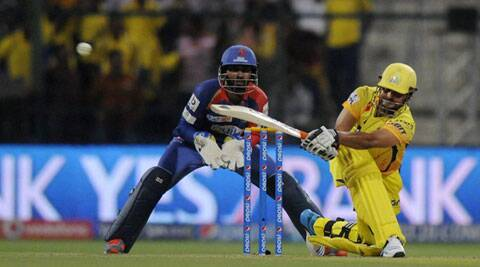 Suresh Raina top-scored for CSK, hitting 56 in 41 balls. Later he also took a brilliant catch in the field (Photo: BCCI/IPL)