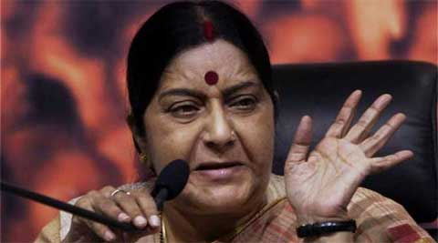 Sushma keeps herself to MP, with little mention of Modi