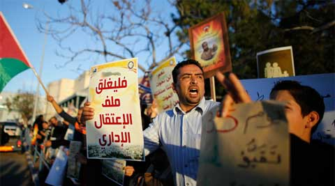 The Palestinians say Israel had already reneged on its own commitments by failing to release a fourth and final batch of Arab prisoners last weekend. (Reuters)