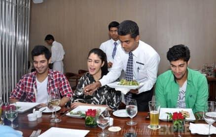 'Purani Jeans' trio Tarun, Izabelle, Aditya enjoy a lunch date